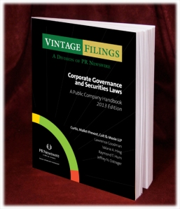 Free handbook for public companies: Corporate Governance and Securities Laws for 2013