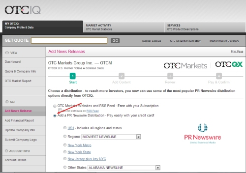 VIDEO HOW TO: OTC issuers can send news directly from their OTC Markets desktop