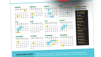 2015 sec filing calendar dont miss a deadline or holiday 2016 sec filing calendar dont miss a deadline or holiday closing sciox Images