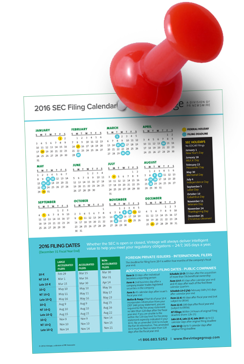 2016 sec filing calendar dont miss a deadline or holiday this is the shortest post youll ever read here click here to download our 2016 sec filing calendar sciox Images