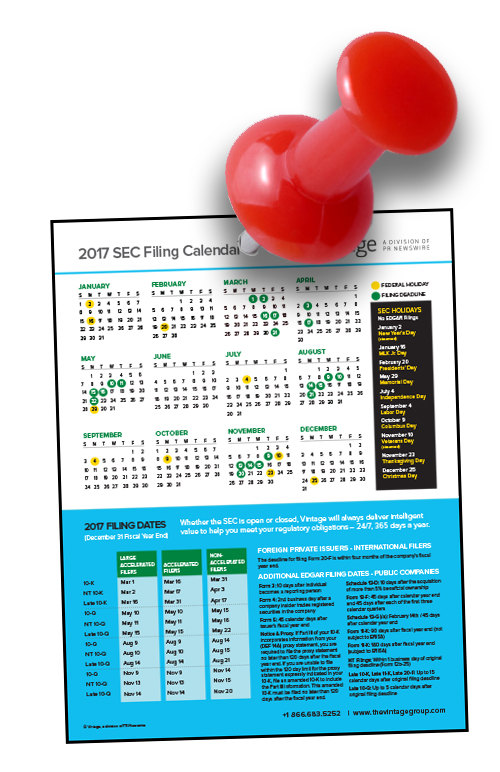 2017 sec filing calendar dont miss a deadline or holiday 2017 sec filing calendar dont miss a deadline or holiday closing building shareholder confidence sciox Images